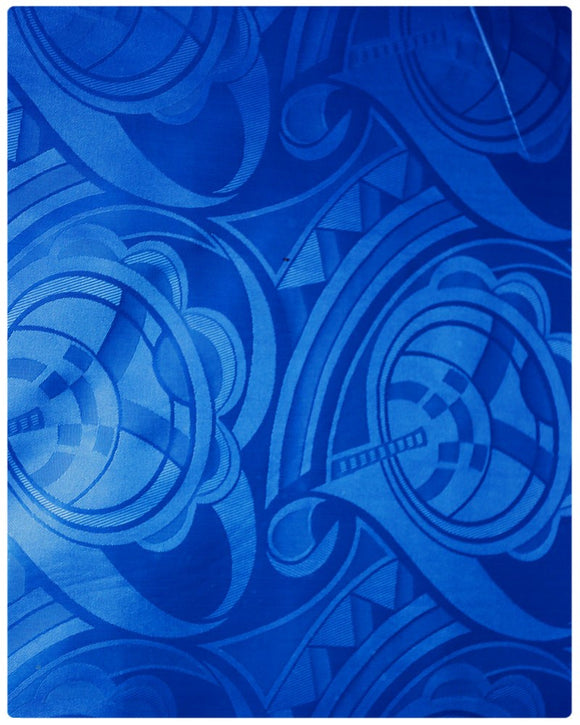 BZN001 - Bazin Brocade - Royal Blue ( 5 Yards)