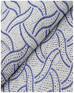 CTV005 - Cotton Voile - White & Blue