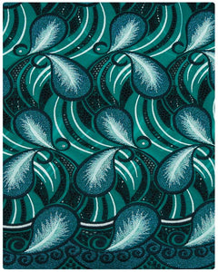 SVL070 - Swiss Voile Lace - Dark & Light Teal Green