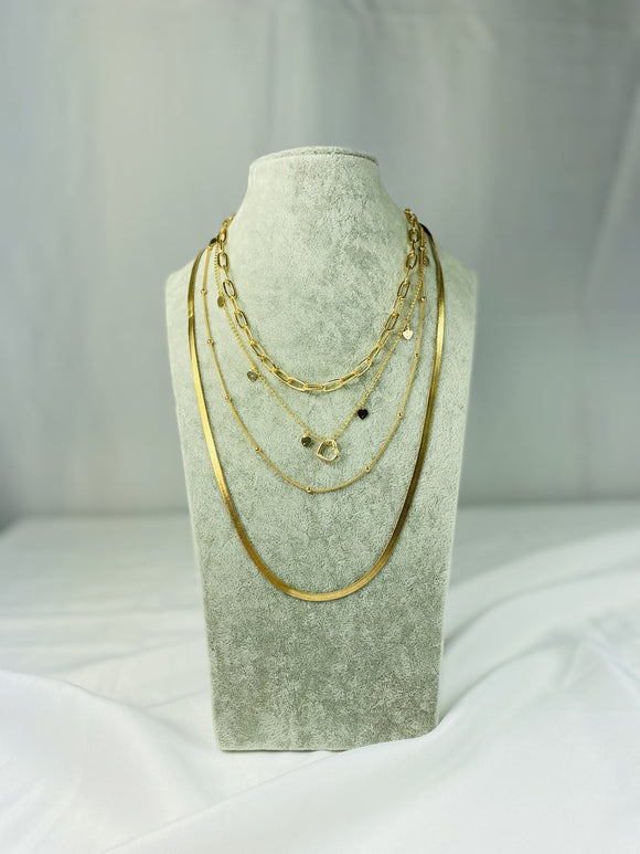 Elegant Four Layers Necklace
