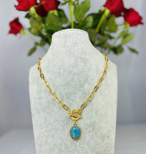 Natural Blue Stone Necklace