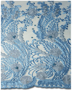 FRN011 - French Lace - Sky Blue