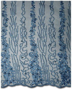FRN014 - French Lace - Sky Blue