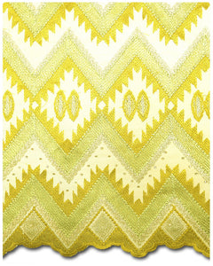 FRN019 - French Lace - Yellow & Silver