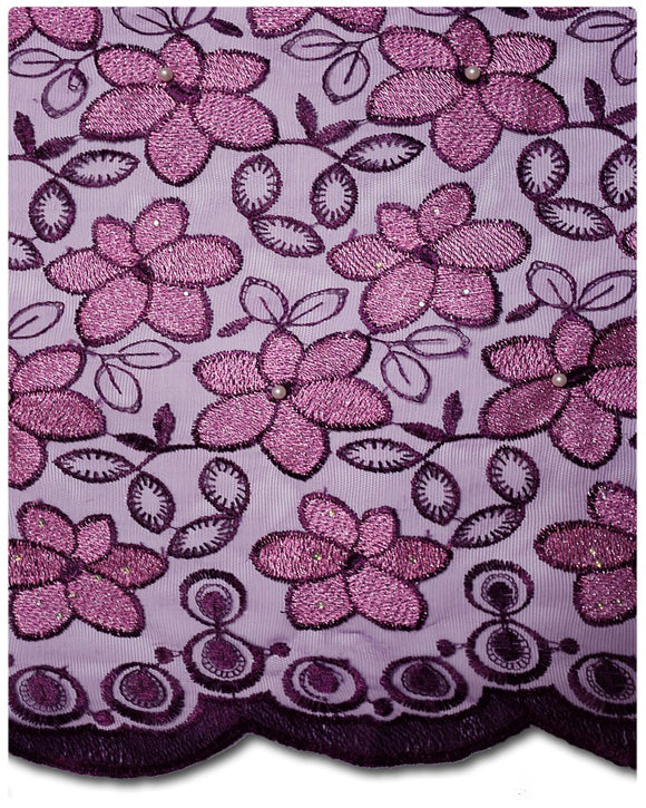 FRN027 - French Lace - Purple & Rose Pink