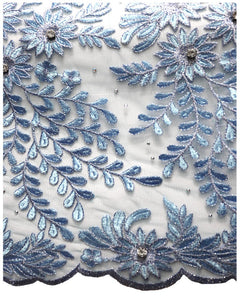 FRN048 - French Lace - Sky Blue