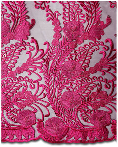 FRN053 - French Lace - Fuchsia Pink