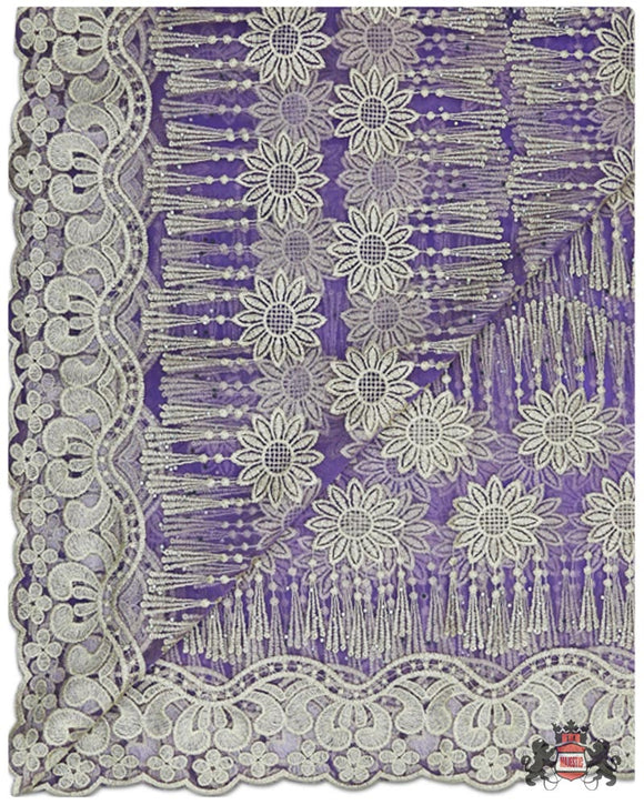 FRN057 - French Lace - Lilac & Gold