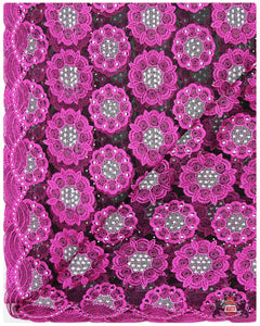 FRN058 - French Lace - Fuchsia Pink