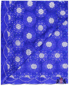 FRN058 - French Lace - Royal Blue