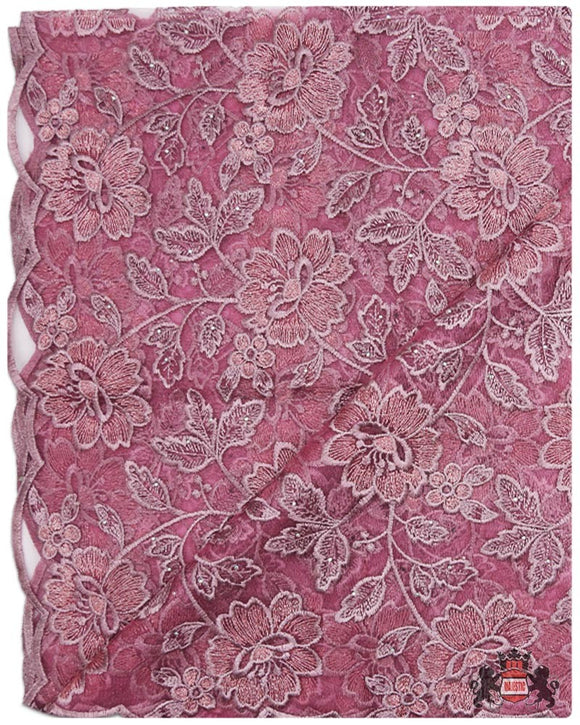 FRN059 - French Lace - Baby Pink & Gold
