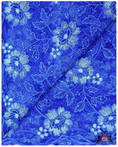 FRN059 - French Lace - Royal Blue