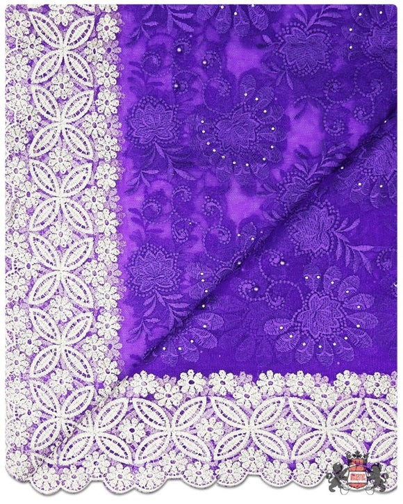 FRN061 - French Lace - Purple, Gold