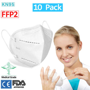 N95 Protective Face Masks 10 pcs in Bag