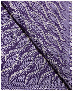 SVL012 - Swiss Voile Lace - Purple & White