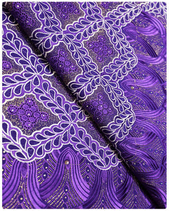 SVL021 - Swiss Voile Lace - Purple & White