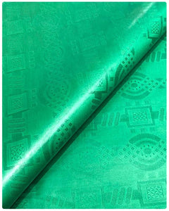BZN12- Bazin Brocade - Green