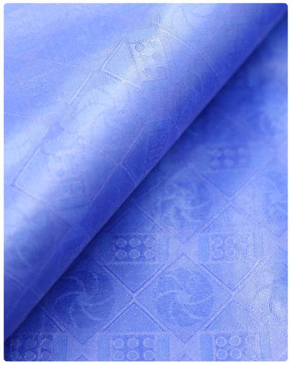 BZN21- Bazin Brocade - Blue
