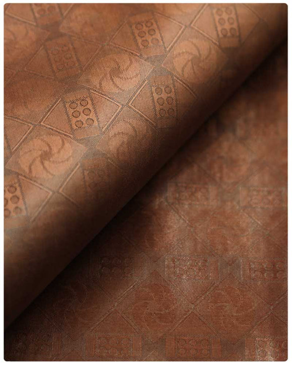 BZN23- Bazin Brocade - Brown