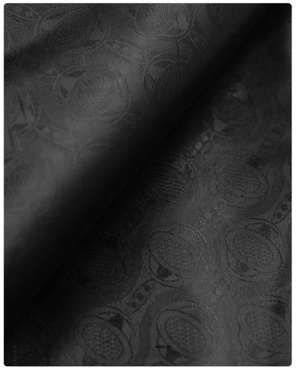 BZN26- Bazin Brocade - Black