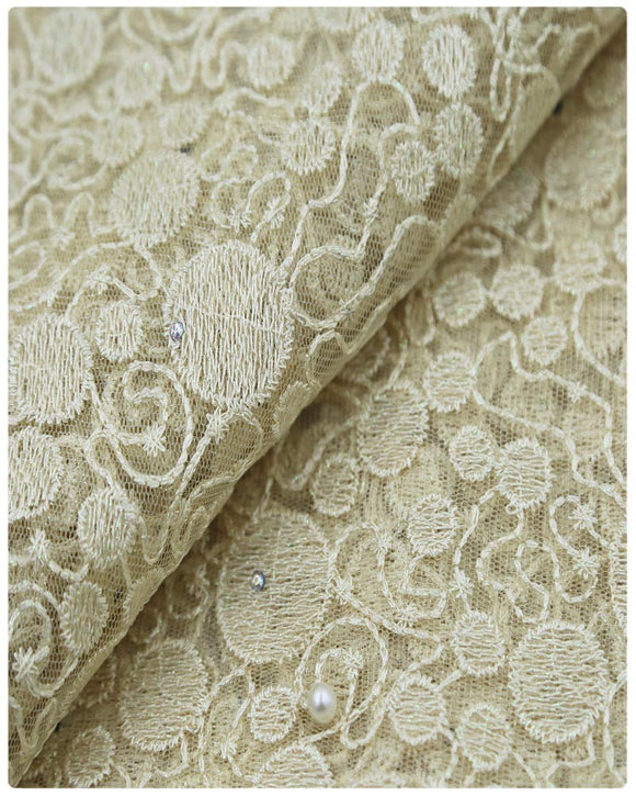 EFRN-146 EXCLUSIVE FRENCH LACE -Cream