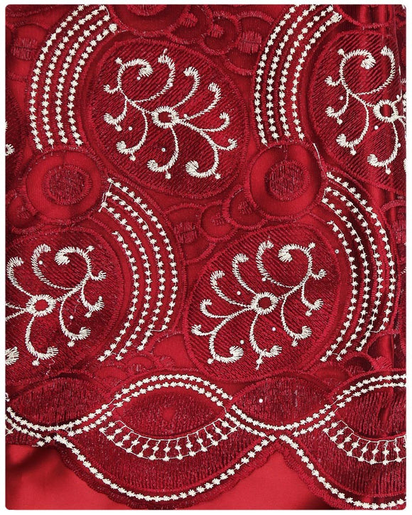 EXFRN121 Exclusive French Lace Burgundy