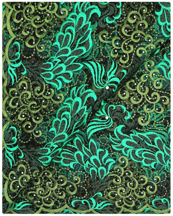 EFRN-126  Exclusive French Lace Teal Green