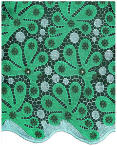 EFRN-139  Exclusive French Lace Emerald Green