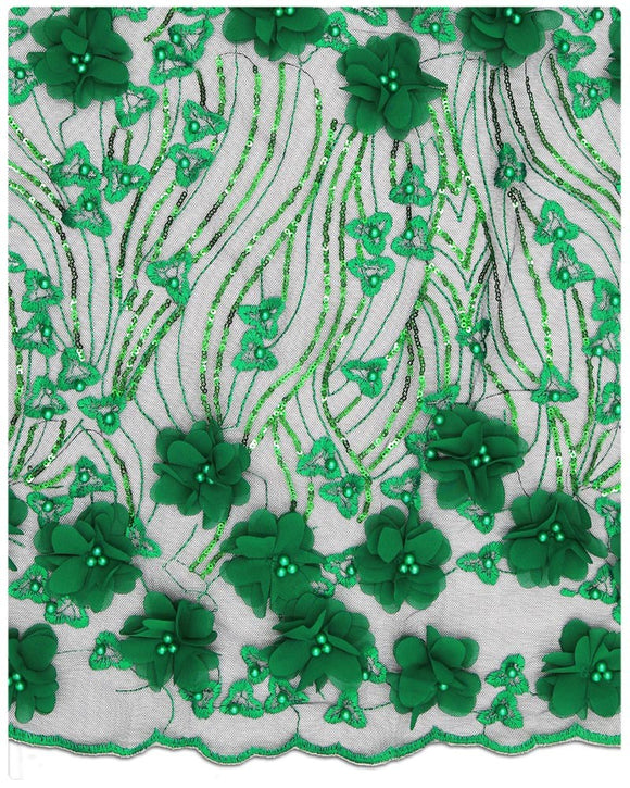 EFRN-120 3D Exclusive French Lace Green