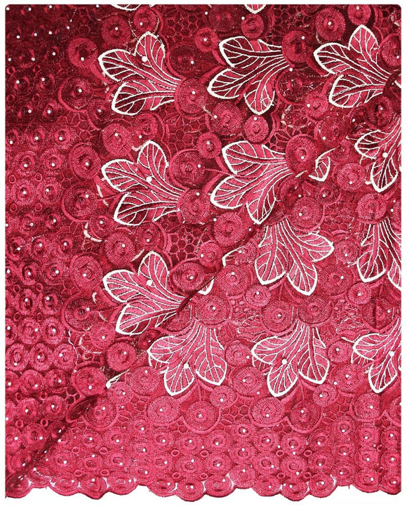 FRN052 - French Lace - Red