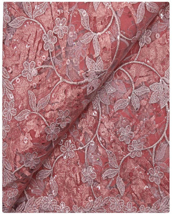 EFRN-145 EXCLUSIVE FRENCH LACE -Peach & Dusty Pink
