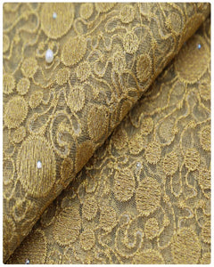 EFRN-146 EXCLUSIVE FRENCH LACE -Gold