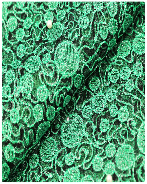 EFRN-146 EXCLUSIVE FRENCH LACE -Green & Black