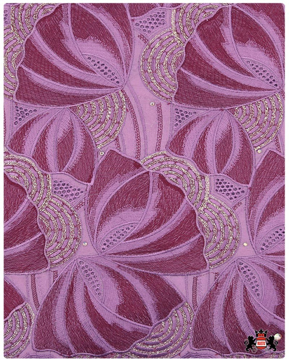 SVL074 - Swiss Voile Lace - Magenta & Burgundy