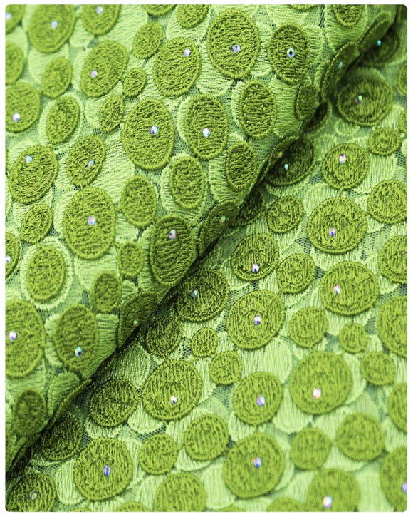 EFRN-144 EXCLUSIVE FRENCH LACE -Olive Green