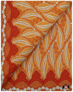 SVL056 - Swiss Voile Lace - Orange & Silver