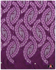 CTV032- Cotton Voile - Plum & Dusty Pink