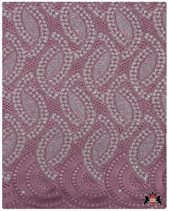 CTV032- Cotton Voile -Powder Pink & Silver