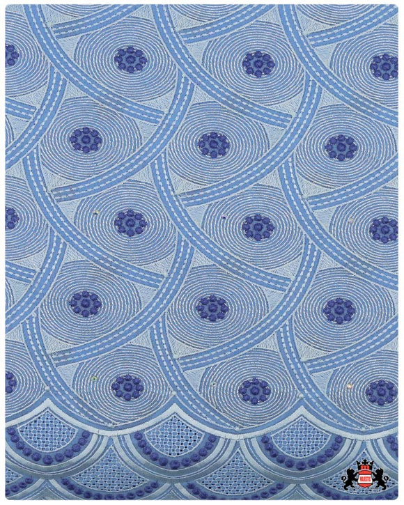 SVL079 - Swiss Voile Lace - Sky Blue & Royal Blue