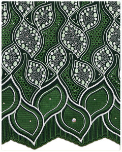 SVL058 - Swiss Voile Lace - Emerald Green