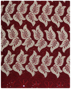 SVL063 - Swiss Voile Lace - Burgundy