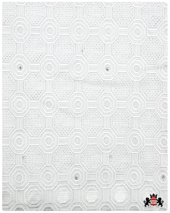 SVL075 - Swiss Voile Lace - White