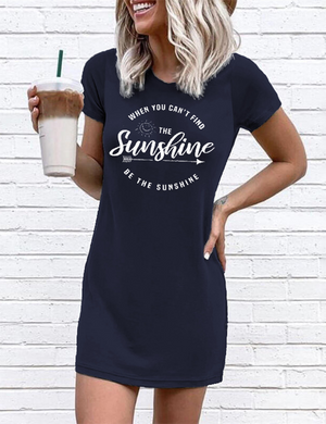 Sunshine O-Neck Mini Dress