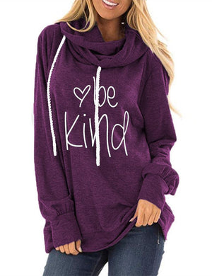 Be Kind Long Sleeve Drawstring Sweatshirt