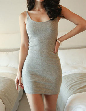 Spaghetti Strap Slim Fit Bodycon Dress