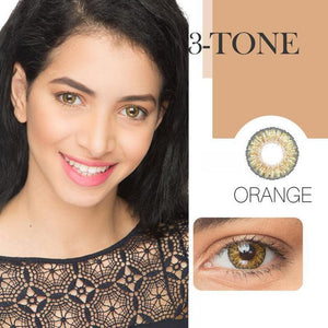 3-Tone Orange (12 Month) Contact Lenses