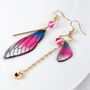 Fairy Wing Tassel Earrings