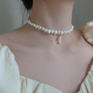 Freshwater Pearl & Moonstone Necklace