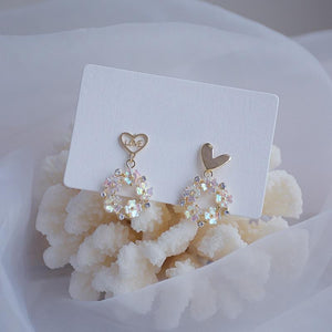 'Love' Flower Earrings