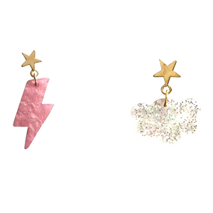 Lightning Bolt & Cloud Earrings
